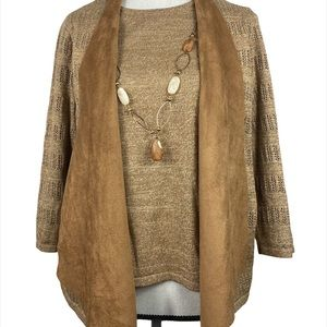✅ 3 for $15 ✅ Alfred Dunner sweater set w necklace